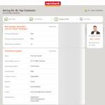 norisbank Kontoeröffnungsantrag - Angaben überprüfen
