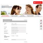 Kontoeröffnung Santander Girokonto persönliche Angaben