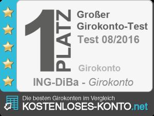 Testsiegel 1. Platz ING-DiBa