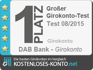Testsiegel 1. Platz Testsieger DAB Bank AG