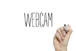 """Hand schreibt """"Webcam"""""""