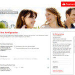 Kontoeröffnung Santander Girokonto Konfiguration
