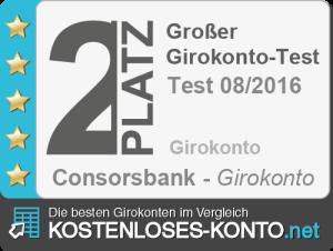 Testsiegel 2. Platz Consorsbank