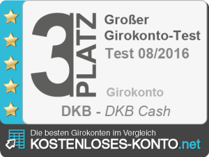 Testsiegel Platz 3 DKB
